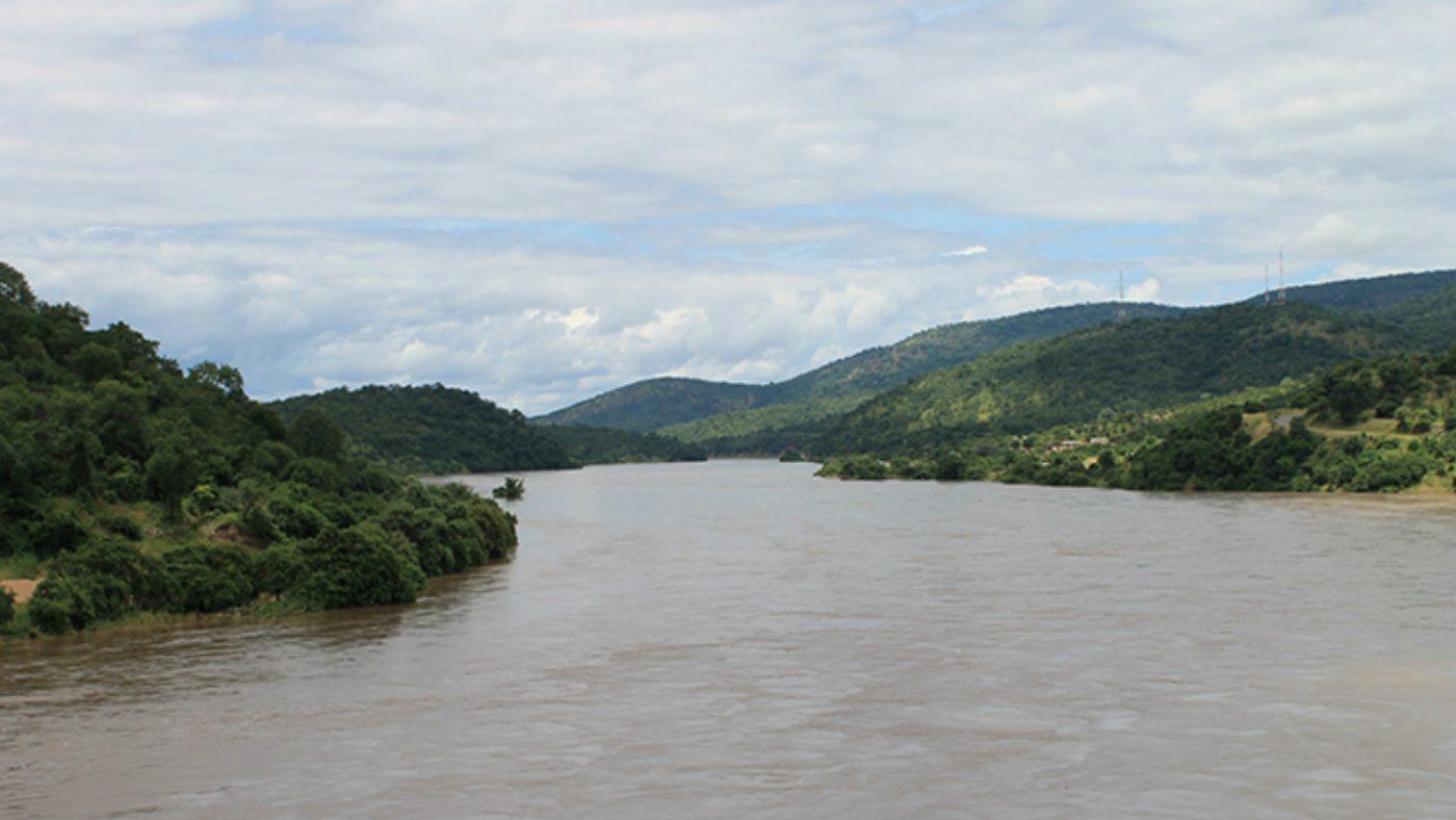 Elven Lwangwa i Zambia.