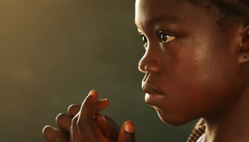 En jente fra Sierra Leone, Afrika.