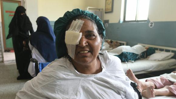 Naheed like etter operasjonen.