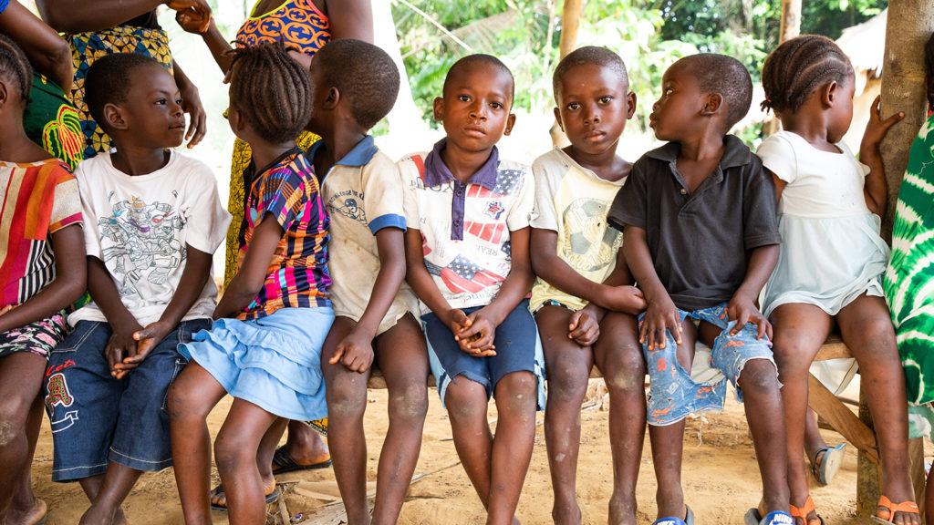 Barn i liberia.
