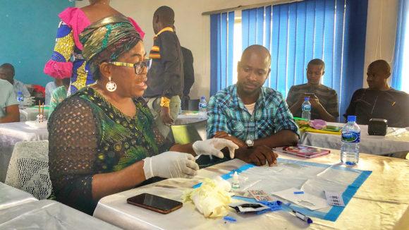Sightsavers sitt prosjekt for å kartlegge og eliminere elveblindhet i Nigeria.